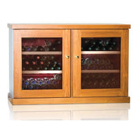 IP Industrie - 100 bottle Freestanding Wooden Wine Cabinet - CEXK 8151