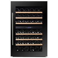 Dunavox - 42 bottle Fully Integrated Dual Zone Wine Fridge DAB-42.117DB Elite Wine Refrigeration