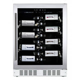 Dunavox - 600mm Built In Single Zone Wine Cooler DAU-40.138SS - [product _type] - [productvendor] - Elite Wine Refrigeration