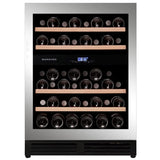 Dunavox - 600mm Handle-less Built in Wine Cooler DAU-45.125DSS.TO - Elite Wine Refrigeration