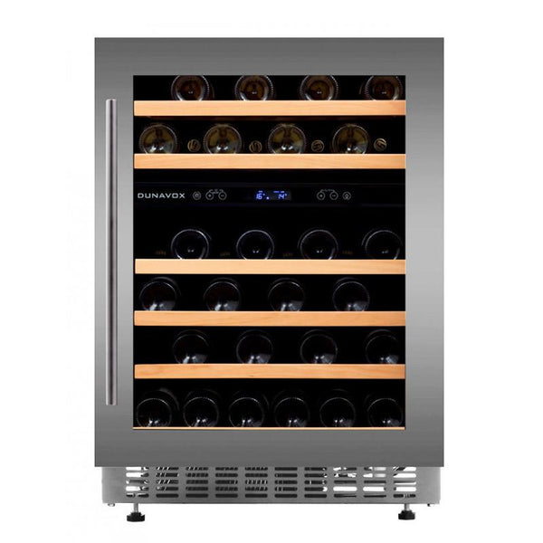 Dunavox - 600mm Built in Dual Zone Wine Cooler DAU-45.145DSS
