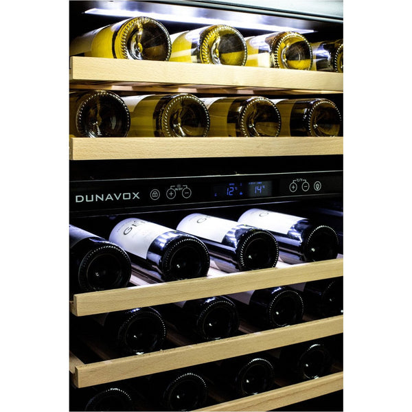 Dunavox - 600mm Built in Dual Zone Wine Cooler DAU-46.145DB - 3 Lighting Option