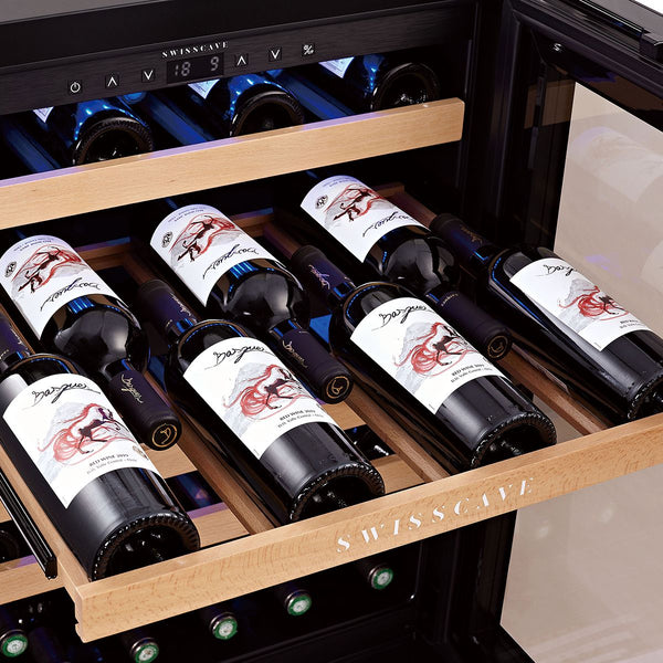 SWISSCAVE - Classic Edition 40 Bottles Dual Zone Wine Cooler WL155DF
