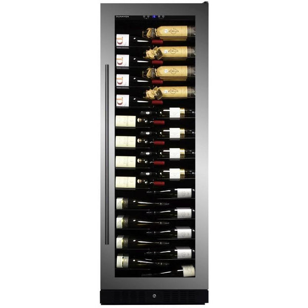 Dunavox - 143 bottle Built In Single Zone Tall Wine Cooler DX-143.468SS Elite Wine Refrigeration
