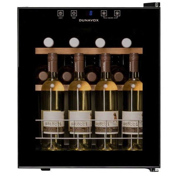 Dunavox - 16 bottle Mini Tabletop Freestanding Wine Cabinet DX-16.46K Elite Wine Refrigeration