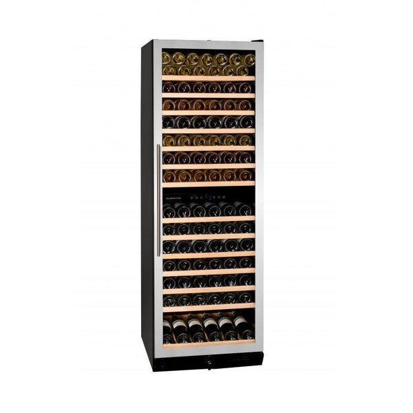 Dunavox - 166 bottle Built In Dual Zone Tall Wine Cooler Stainless Steel DX-166.428SDSK Elite Wine Refrigeration