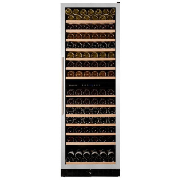 Dunavox - 166 bottle Built In Dual Zone Wine Cooler Stainless Steel DX-166.428SDSK