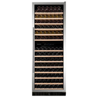 Dunavox - 181 bottle Built In Dual Zone Tall Wine Cooler Stainless Steel DX-181.490SDSK Elite Wine Refrigeration
