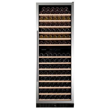 Dunavox - 181 bottle Built In Dual Zone Tall Wine Cooler Stainless Steel DX-181.490SDSK