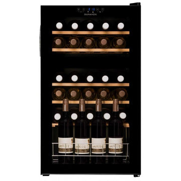 Dunavox - 30 bottle Freestanding Dual Zone Wine Cabinet DX-30.80DK