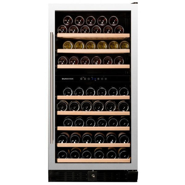 Dunavox - 94 bottle Built in Dual Zone Wine Cooler DX-94.270SDSK - Elite Wine Refrigeration