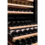 Dunavox - 94 bottle Built in Dual Zone Wine Cooler DX-94.270DBK Elite Wine Refrigeration
