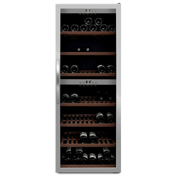 mQuvée -  Wine Expert 126 Freestanding Wine Cooler - Stainless Steel