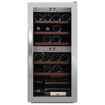 mQuvée -  Wine Expert 24 Dual Zone Freestanding Wine Cooler - Stainless Steel