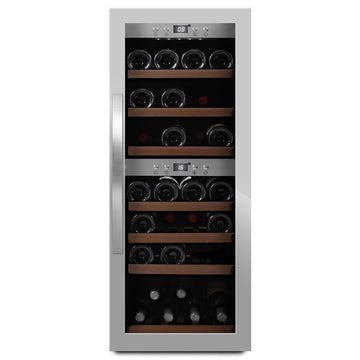 mQuvée -  Wine Expert 38 Freestanding Wine Cooler - Stainless Steel