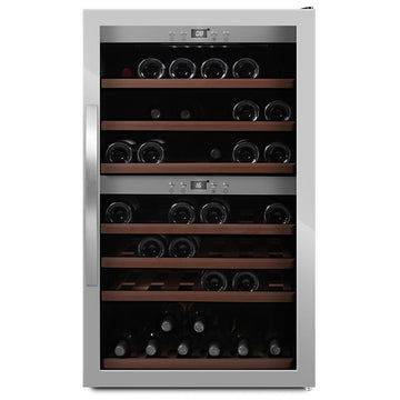 mQuvée -  Wine Expert 66 Freestanding Wine Cooler - Stainless Steel