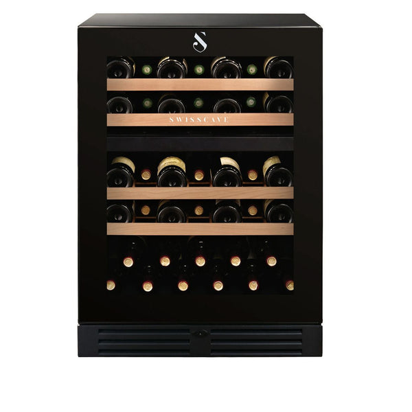 SWISSCAVE - 40 Bottle Dual Temperature Zone Wine Cooler - WLB160DF