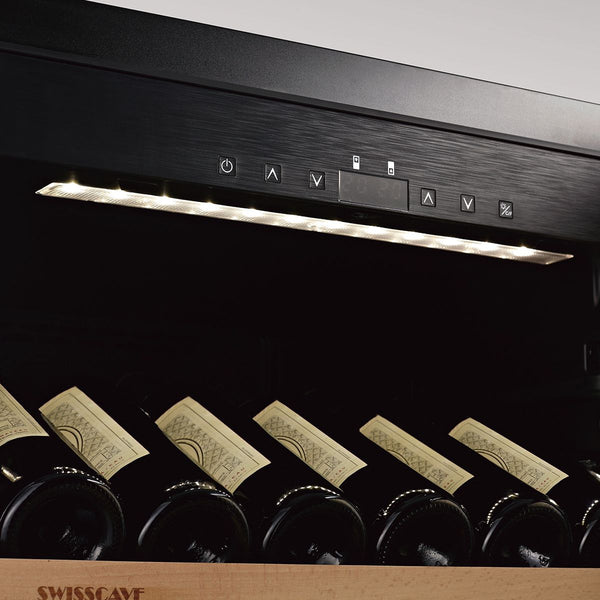 SWISSCAVE - Burgundy Edition 138 Bottle Dual Zone Wine Cooler - WLB460DF-BGDY