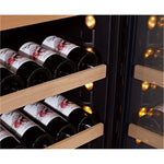 SWISSCAVE - 114 Bottle Dual Temperature Zone Wine Cooler - WLB360DF