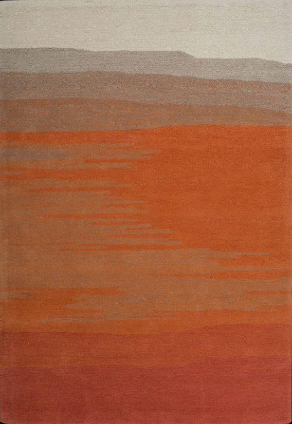 FPF 2033 Orange Fade Contemporary and Modern Area Rug