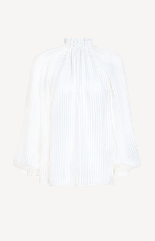 Bluse Wavelength Swing in Ivory