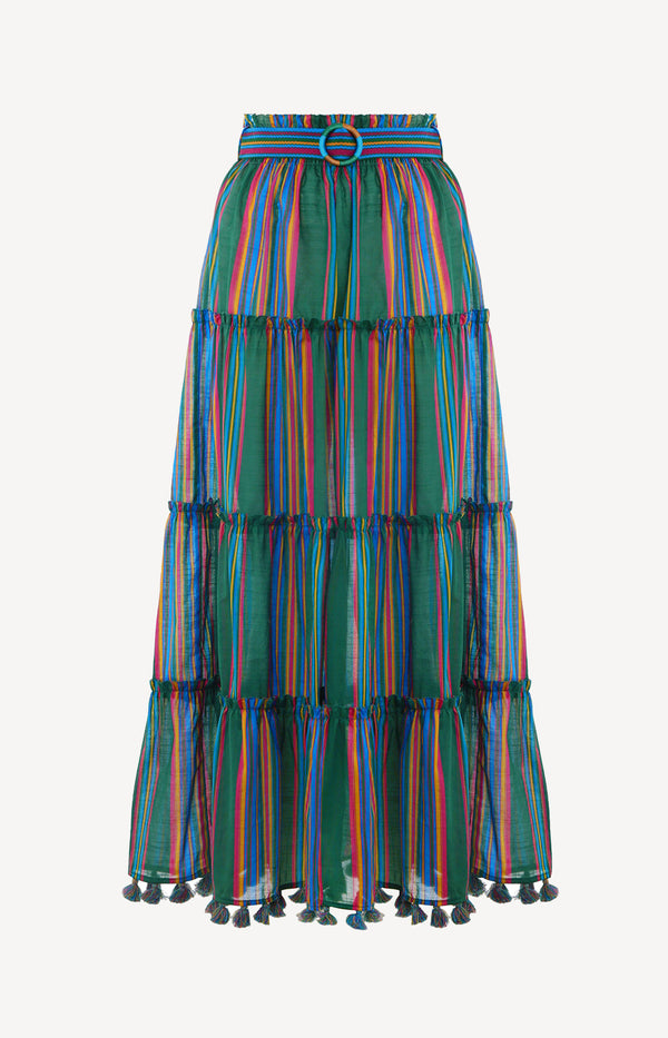 Maxi-Rock Allia Stripe LinearZimmermann - Anita Hass