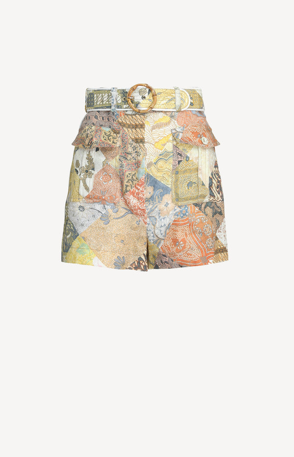 Shorts Brightside Piped in Batik PatchZimmermann - Anita Hass