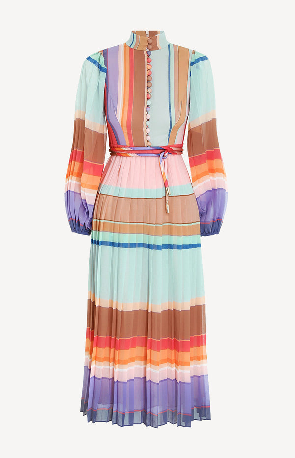 Midi-Kleid in Rainbow StripeZimmermann - Anita Hass