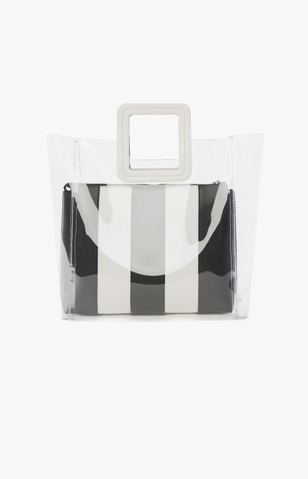 Tasche Shirley Medium Clear/Black/WhiteStaud - Anita Hass
