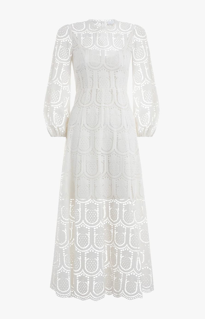 Kleid Wayfarer Embroidered High Neck CreamZimmermann - Anita Hass