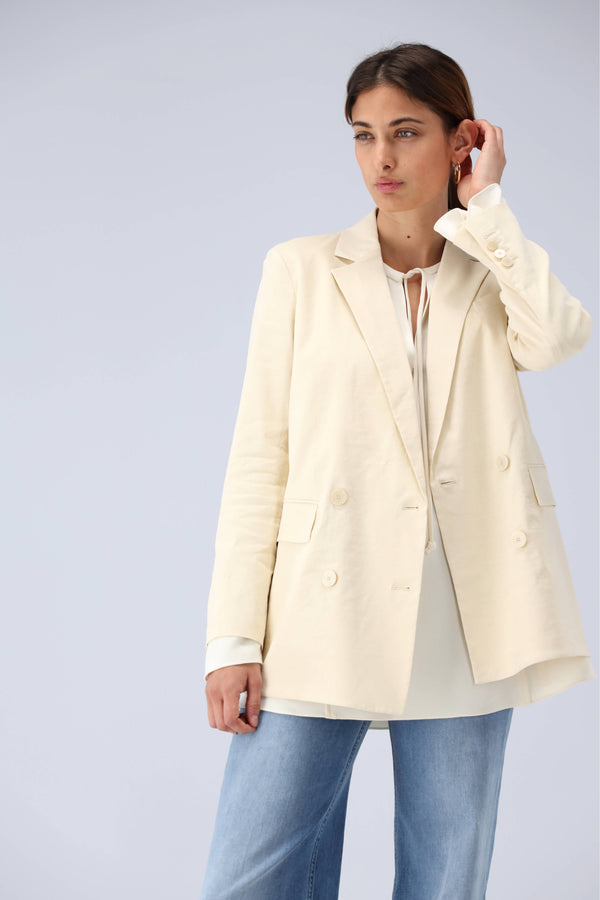 Blazer Piazza in Light LinenTheory - Anita Hass