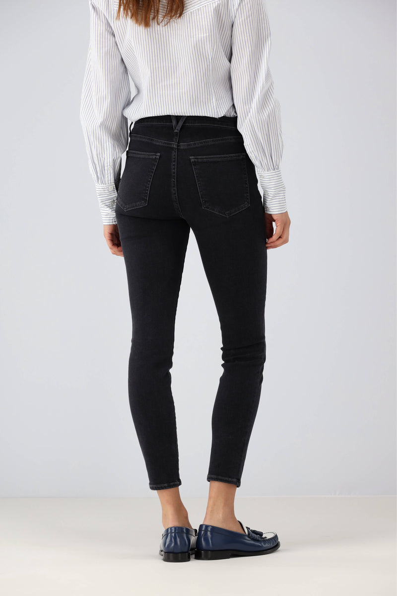 Jeans Debbie High Rise Ankle in Salt & PepperVeronica Beard - Anita Hass