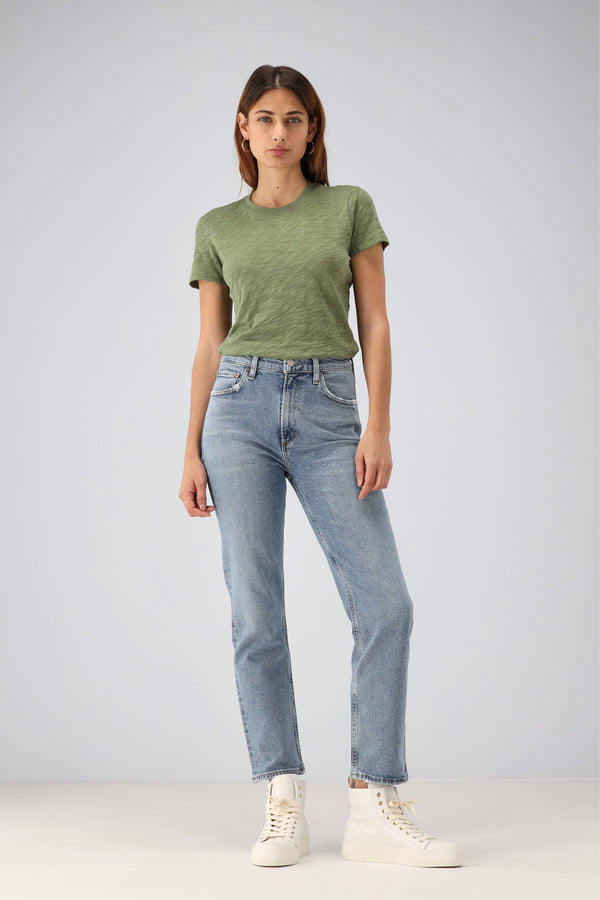 Jeans Wilder Mid Rise in CascadiaAgolde - Anita Hass