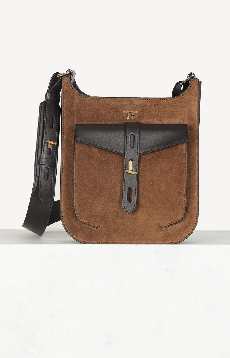 Tasche T Twist Small in Dark Whiskey/Dark BrownTom Ford - Anita Hass