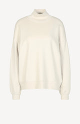 Funnel Neck Sweatshirt in Vintage Winter WhiteFrame Denim - Anita Hass