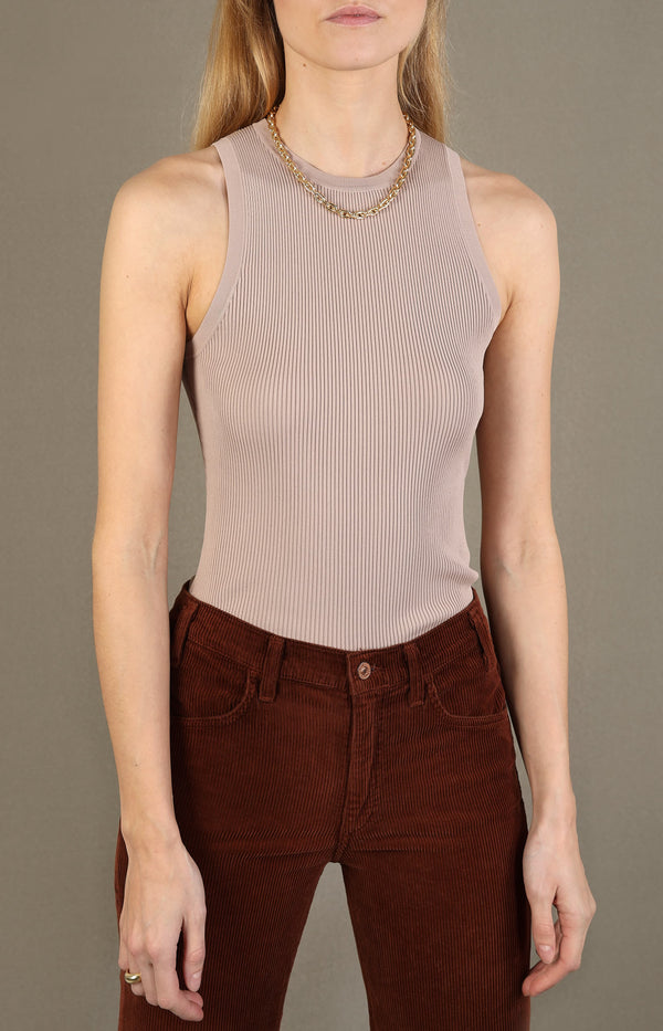 Tank Top Kirra Racer Knit in SandZimmermann - Anita Hass