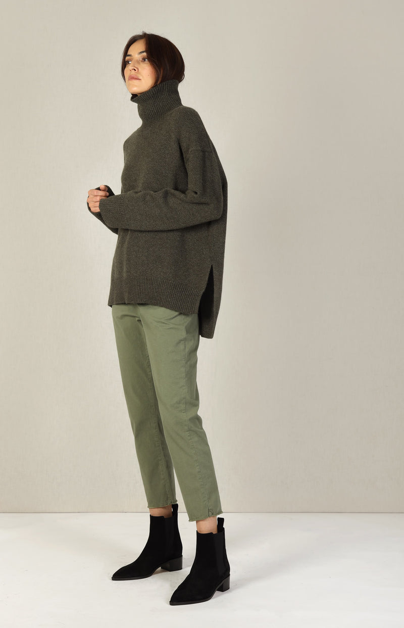 Pullover Slouchy Turtle in LodenSminfinity - Anita Hass
