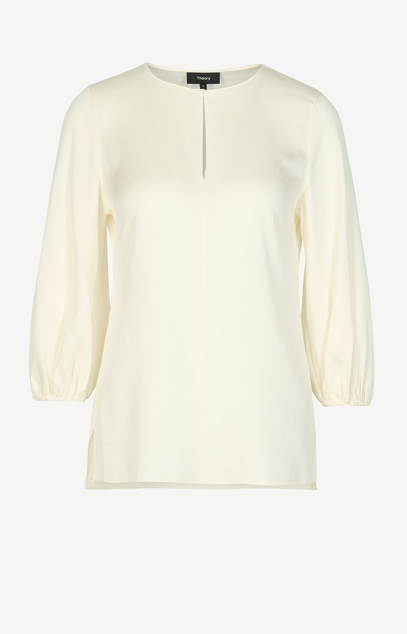 Bluse Volume Sleeve in IvoryTheory - Anita Hass