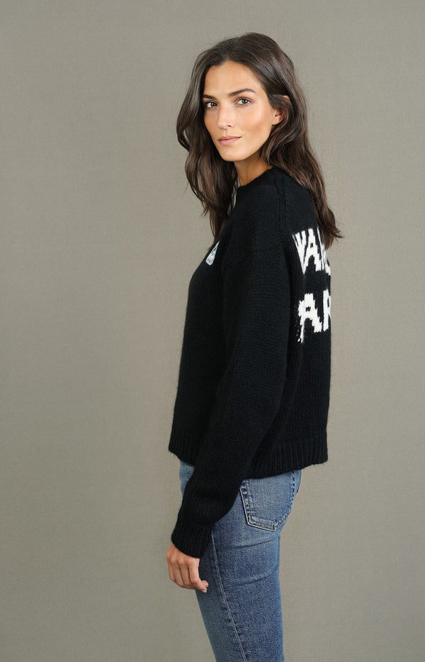 Sweater Global Warming in Embassy Black/Lapponia WhiteAlanui - Anita Hass