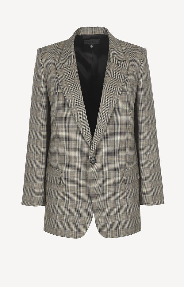 Blazer Diane in Grey/Black/Tan PlaidNili Lotan - Anita Hass