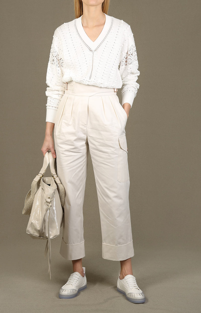 Gerade Hose in White PowderSee by Chloé - Anita Hass