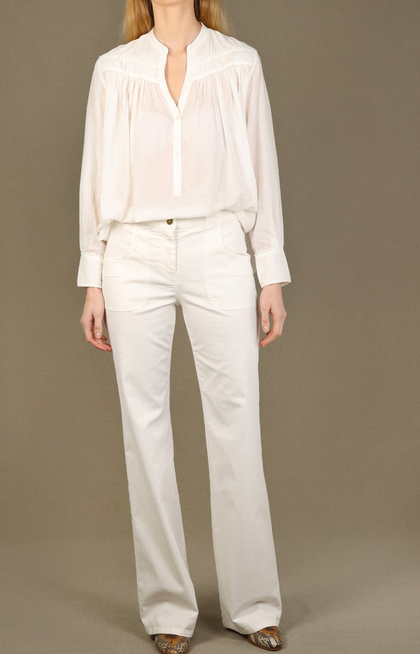 Bluse Clarys in Ivory