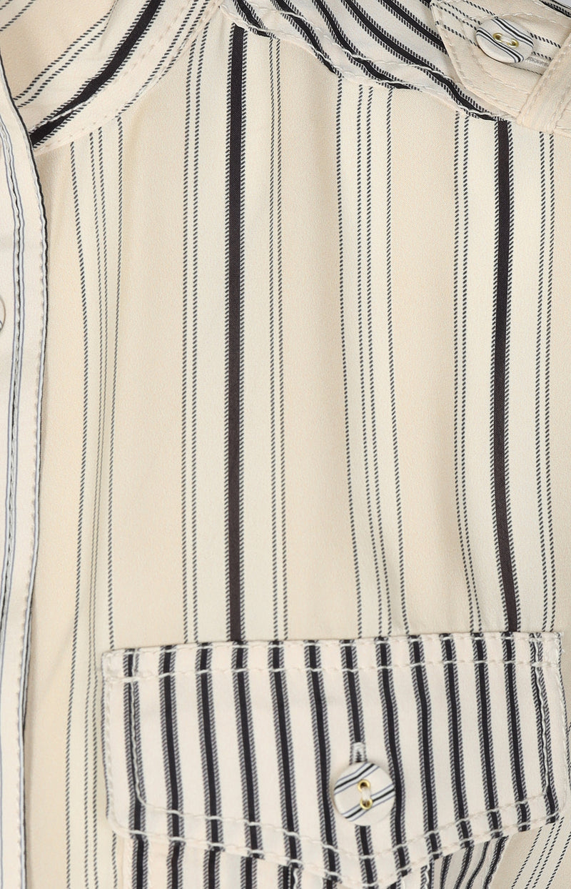 Kurzarm-Bluse in Ticking StripeZimmermann - Anita Hass