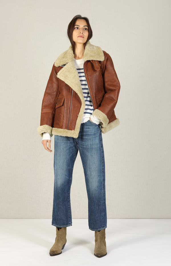 Jacke Kain Shearling in Rust BrownZadig & Voltaire - Anita Hass