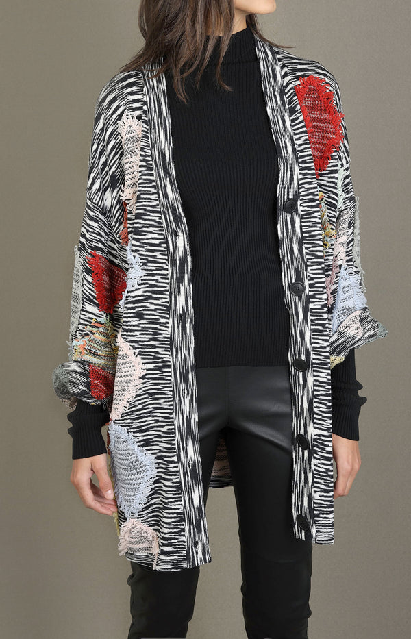 Cardigan mit Patchwork-Design in MultiMissoni - Anita Hass