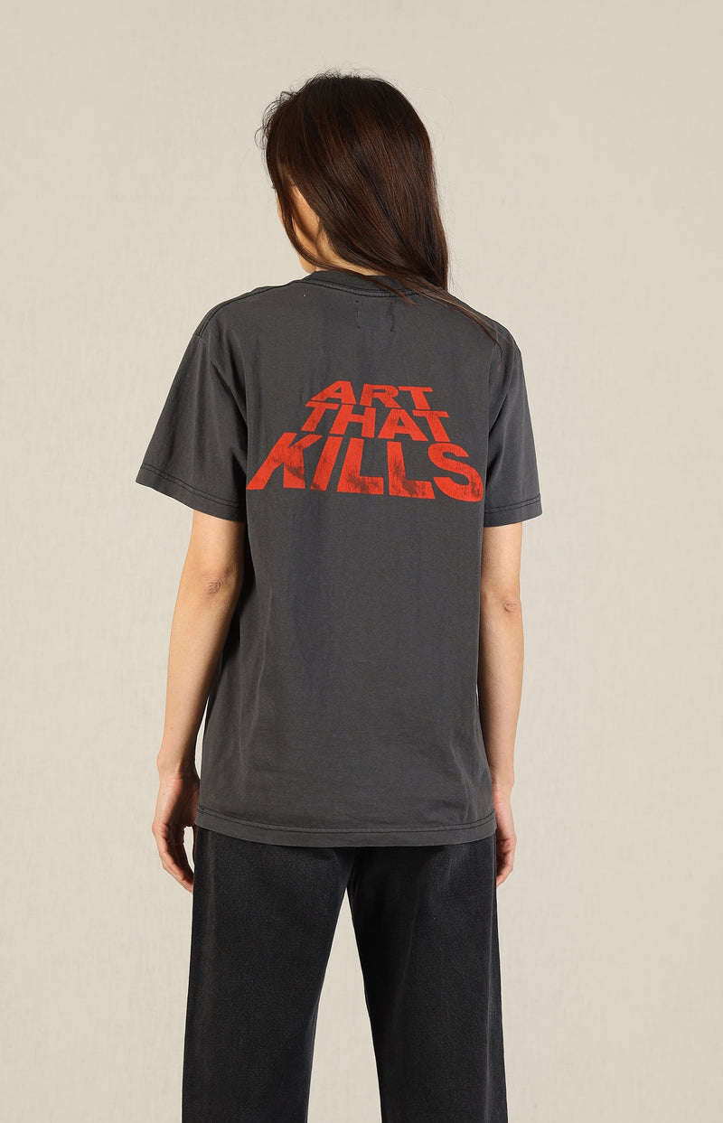 T-Shirt ATK Stack Logo in Washed BlackGallery Dept. - Anita Hass