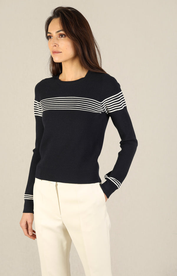 Pullover Posie in Navy/MultiVeronica Beard - Anita Hass