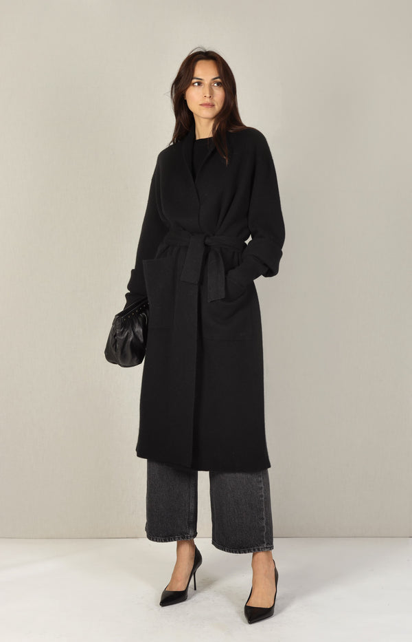 Mantel Double Coat in SchwarzSminfinity - Anita Hass