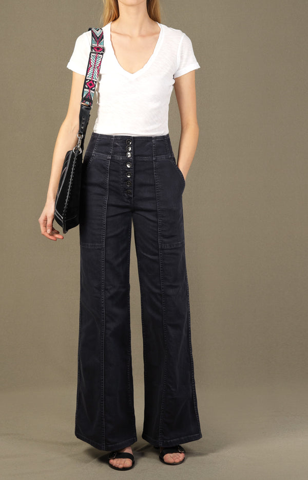 Wide Leg Jeans Greer in CharcoalUlla Johnson - Anita Hass