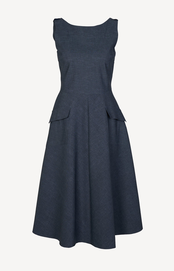 Kleid Padme in Denim BlueChiara Boni - Anita Hass